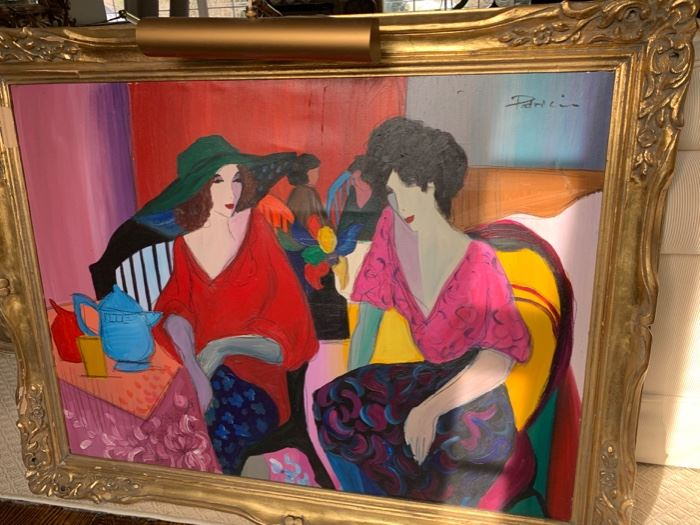 """4. Painting of Two Women by Patricia (47"""" x 37"""")"""