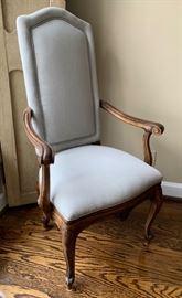 "16. John Widdicomb Dining Chairs, 4 Armchairs (26"" x 21"" x 46""), 4 Side Chairs (21"" x 19"" x 46"")"