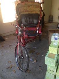 Vintage 3-Wheeled Asian Rickshaw Tricycle