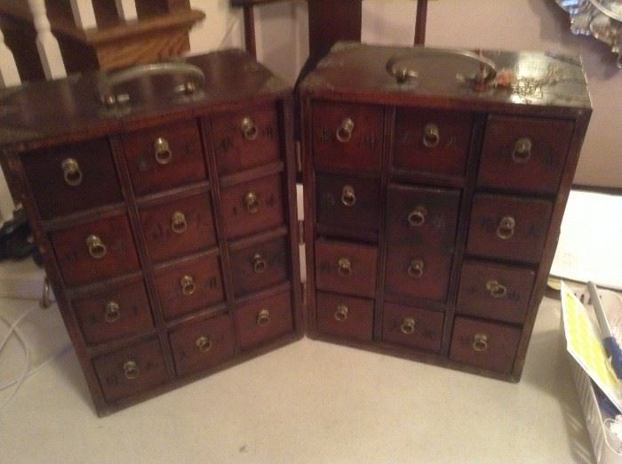 Antique Chinese Travel Spice Chest