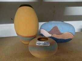 1 Vase and 2 Handmade in ruidoso new mexico vase ...