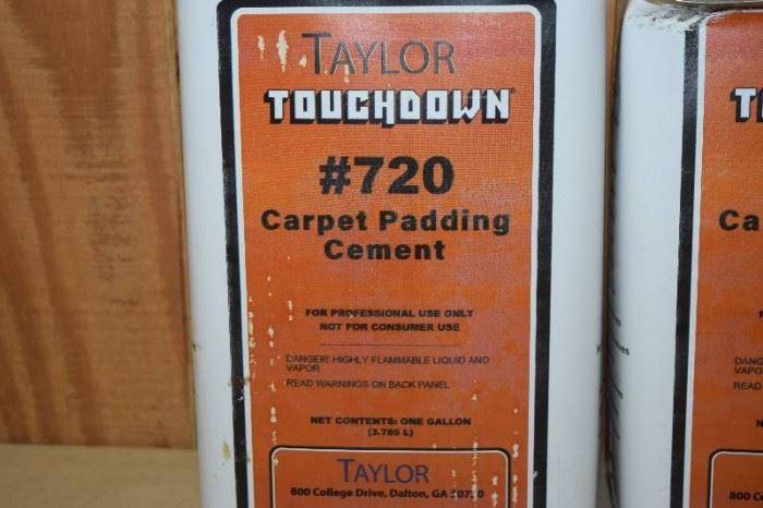 2 Gallons Taylor Touchdown 720 Carpet Padding Cem ....