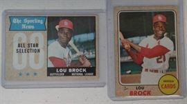 1968 Topps Lou Brock Lou Brock AllStar Baseball ...