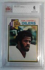 Beckett Vintage Graded 1979 Topps Earl Campbell Ro ...