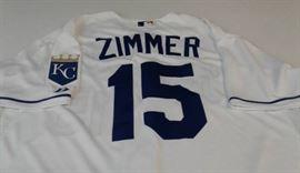 Game Used Kansas City Royals Kyle Zimmer 15 Team ...