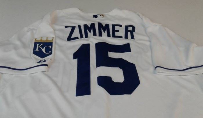 Game Used Kansas City Royals Kyle Zimmer 15 Team ...