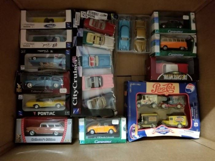 Box of Collectible Diecast Cars