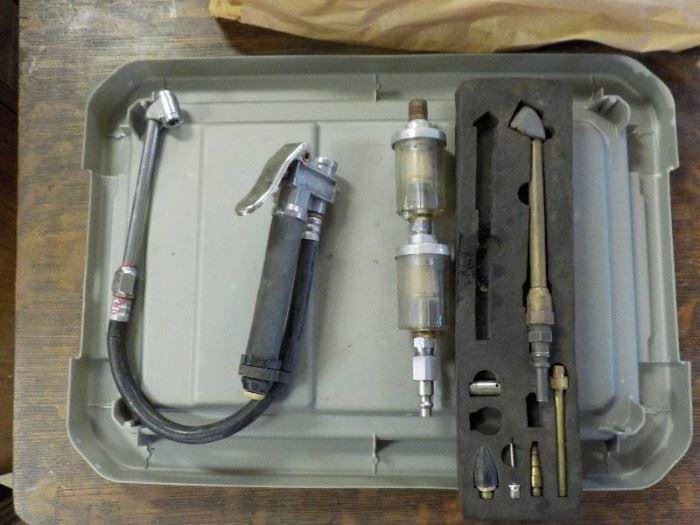 Air gauges,air chucks and filters