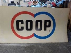 COOP single sided sign