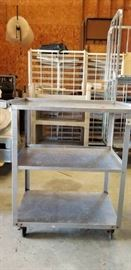 3 Tier Metal Cart with Casters