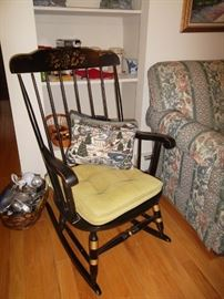 stenciled rocking chair