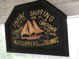 Empire Shipping Decorative Sign            https://ctbids.com/#!/description/share/85816