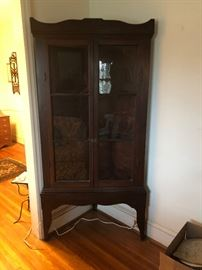 asking $475 Very  old 2 pc. Display Cabinet