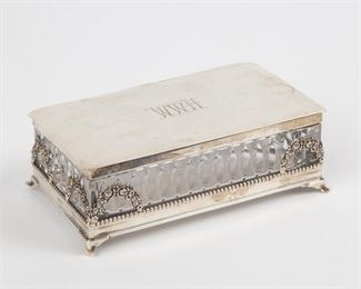 Lot 3: Hawkes Sterling and Cut Crystal Box