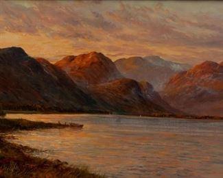 """Lot 10: Graham Williams """"Loch Lomond"""" Oil On Canvas"""