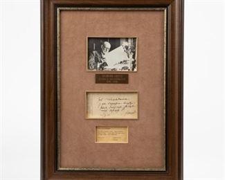 Lot 13: Signed Sigmund Freud Handwritten Analysis of Patient
