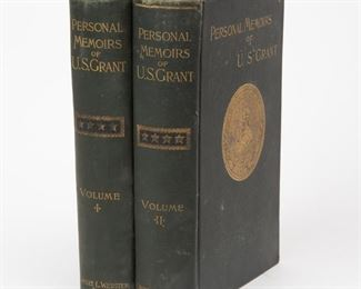 Lot 14: First Edition Personal Memoirs of U.S. Grant
