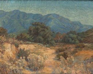 Lot 21: William Arthur Paxton Oil Landscape