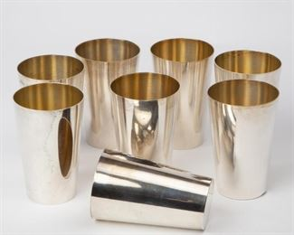 Lot 22: Eight Otto Wolter Sterling Julep Cups