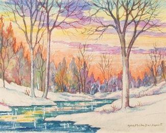 Lot 31: Alba Malm-Dahlquist Signed Watercolor