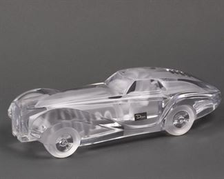 Lot 35: Daum France Crystal Coupe Riviera