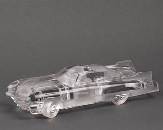 Lot 36: Daum France Crystal Cadillac El Dorado