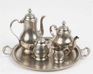 Lot 39: MATCH Handmade Italian Pewter Tea Set