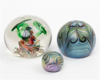 Lot 49: Three Paperweights including Orient & Flume