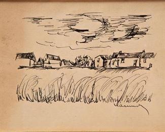 Lot 61: Maurice de Vlaminck Signed Pen and Ink