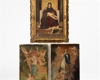 Lot 64: Three Small Oils after Bouguereau