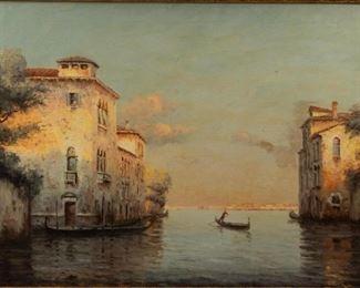 Lot 65: Venice Oil On Canvas