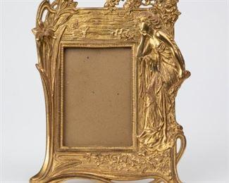 Lot 66: Art Nouveau Gilt Bronze Picture Frame