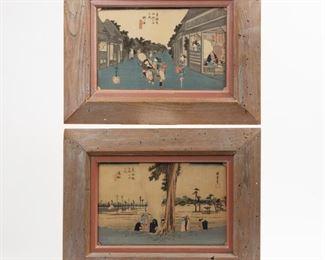Lot 77: Two Ando Hiroshige Color Woodblocks