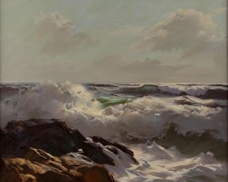 Lot 88: A.J. Shelton Oil Seascape