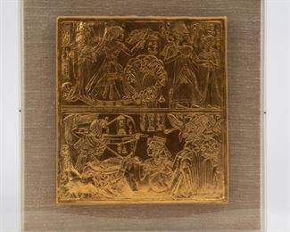 Lot 90: 1976 Metropolitan Museum of Art King Tut Gold Plaque