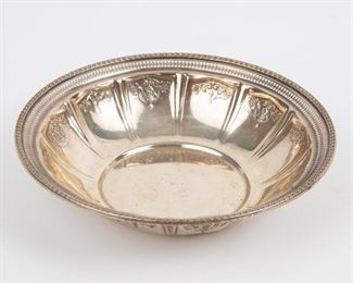 Lot 95: Whiting Sterling Reticulated Bowl