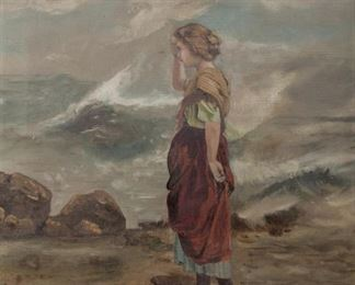 Lot 100: 1904 Oil On Canvas