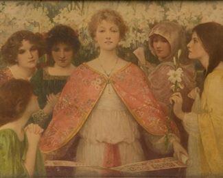Lot 101: Antique Ethel Wright Lithograph