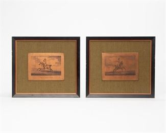 Lot 104: Pair of Engraved Copper Plates