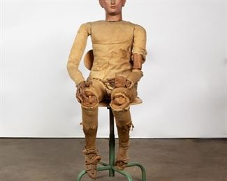 Lot 111: 19th c. German Fully Articulating Life-Size Mannequin