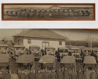 Lot 114: 1919 US Army Facility Motor Transport Panorama