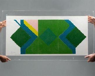 Lot 131: Toma Roata Two-Sided Postmodern Woodcut