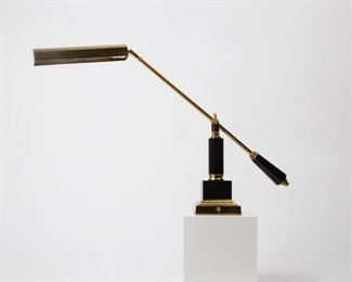 Lot 135: House of Troy P10-190-M Balance Arm Piano Lamp