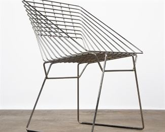 Lot 137: Fritz Hansen Box Chrome Wire Chair by Verner Panton