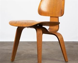 Lot 138: Eames DCW Molded Plywood Chair