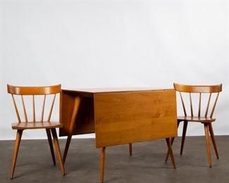 Lot 141: Paul McCobb Planner Group Table and Two Chairs