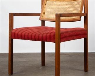 Lot 143: Unique Mid-Century Walnut Armchair