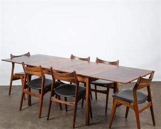 Lot 153: Erik Buch Danish Rosewood Table & Six Model 310 Chairs