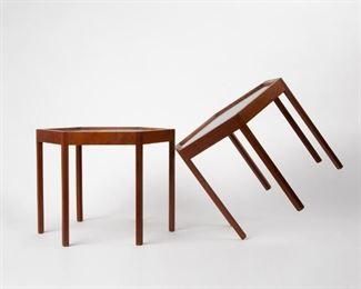 Lot 155: Hans Andersen Pair of Hexagonal Side Tables