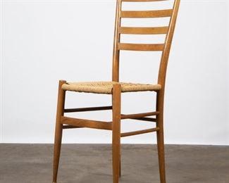 Lot 156: Gio Ponti Style Ladderback Chair